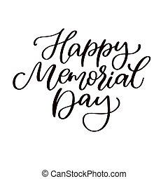 Memorial day vector hand lettering. American national...