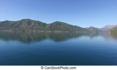 Kotor Bay in Montenegro. Shooting Aerial - Kotor Bay in...