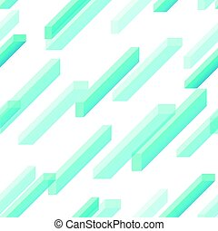 Vector illustration of seamless pattern with blue geometric rectangles