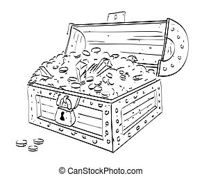 Cartoon image of treasure chest