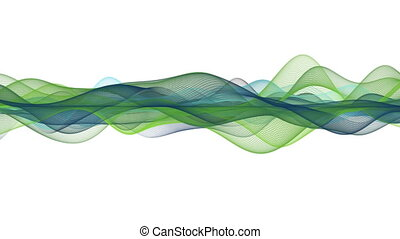 Wonderful eco animation with wave object in slow motion,...