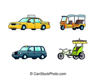 Colorful Taxi Transport Collection - Colorful taxi transport...