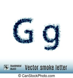 Smoke Letter - Smoke in Shape of the Letter G on White...