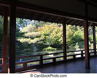 Japanese garden in Hamilton Gardens, Hamilton, New Zealand