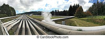 Wairakei Geothermal power Station Taupo New Zealand - TAUPO,...