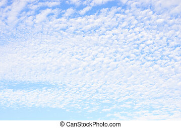 Blue sky and altocumulus clouds. - Blue sky and altocumulus...