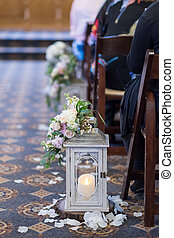 Wedding Ceremony Candles - Candles used for decor at this...