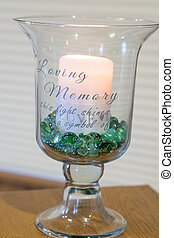 Loveing Memory Candle - Tribute candle in loving memory this...
