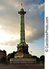 Bastille - The Column at the Place de la Bastille in Paris,...