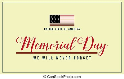 Theme memorial day background collection vector art