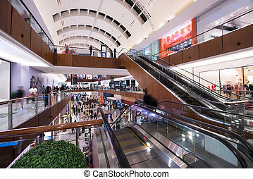 modern shopping center - interior of the large modern...