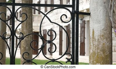 Forged metal products. Visor for doors, gates, stair...