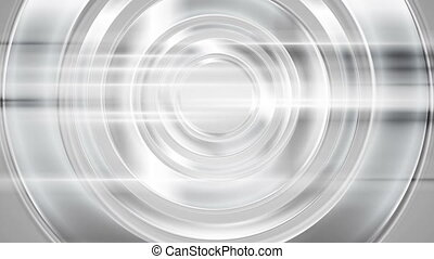 Abstract silver chrome circles and shiny stripes video...