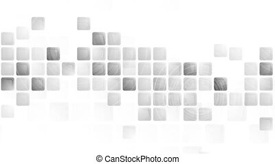 Technology video animation with grey squares - Technology...