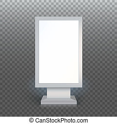 Blank advertising billboard - Digital Signage. Blank...