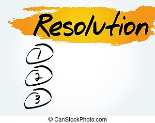 RESOLUTION blank list, fitness, sport, health concept