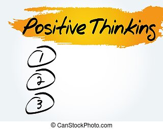 Positive thinking blank list, health concept