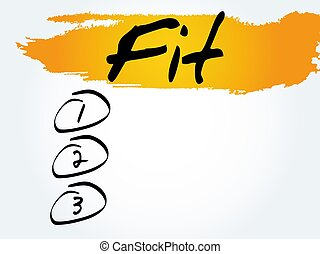 Fit blank list, spote, fitness - Fit blank list, health...