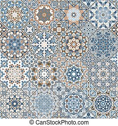 Set of octagonal and square patterns. - Set of vector...