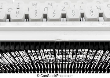 letters of a typewriter - keyboard and letters of an old...