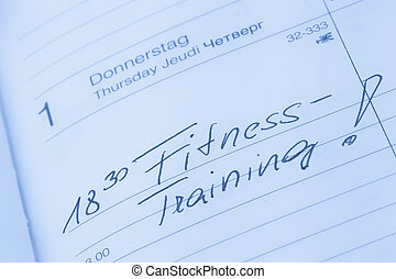 entry to the calendar: exercising - an appointment is...