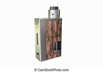 Box mod - 3d illustration of a box mod isolated on white...
