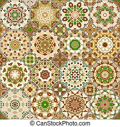 Set of octagonal and square patterns. - Vector set of...