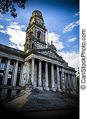 Portsmouth Guildhall in early evening sunshine home of the...