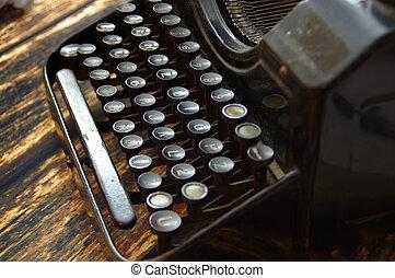 maskin, Årgång, tangentbord, skrift