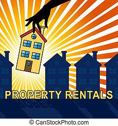 Property Rentals Showing Real Estate 3d Illustration -...