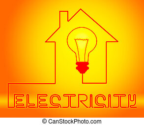 Electricity Light Bulb Meaning Power Source And Circuit