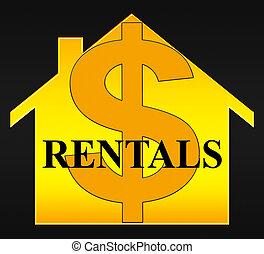 Property Rentals Meaning Real Estate 3d Illustration -...
