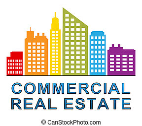 Commercial Real Estate Meaning Properties Sale 3d...
