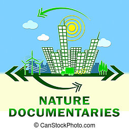 Nature Documentary Showing Environment Video 3d Illustration...