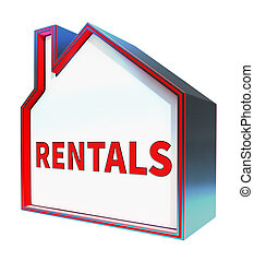 Property Rentals Meaning Real Estate 3d Rendering - Property...