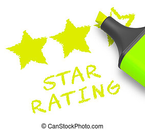 Star Rating Means Performance Report 3d Illustration - Star...