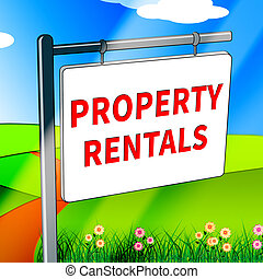 Property Rentals Shows Real Estate 3d Illustration -...