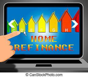 Home Refinance Representing Equity Mortgage 3d Illustration...