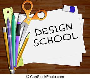 Design School Means Artwork Studying 3d Illustration