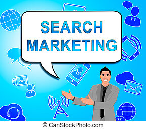 Search Marketing Showing Seo Engines 3d Illustration