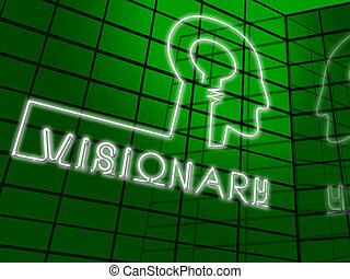 Visionary Brain Represents Insights Strategist 3d...