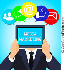 Media Marketing Meaning Emarketing Sem 3d Illustration