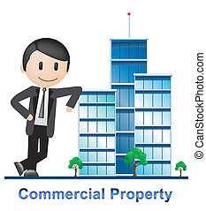 Commercial Property Office Represents Buildings Property 3d Illustration