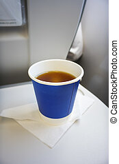 cup of tee at the plane