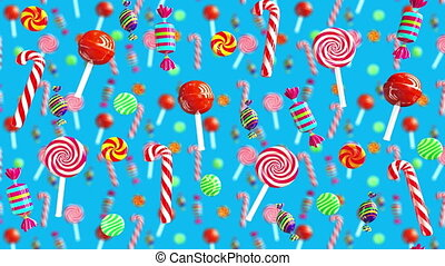 Bright glamour sweet juicy candies lollipop chupa chups...