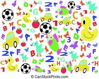 children patterns seamless background