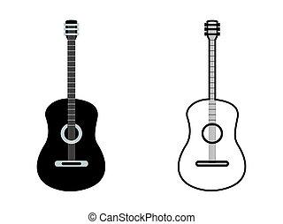 classic guitar outline