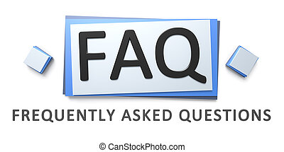 frequently asked questions sign - 3d rendering of a...