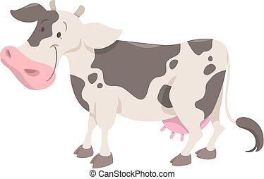 cute spotted cow animal - Cartoon Illustration of Spotted...