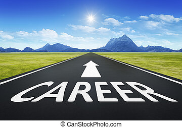 road to horizon with text career